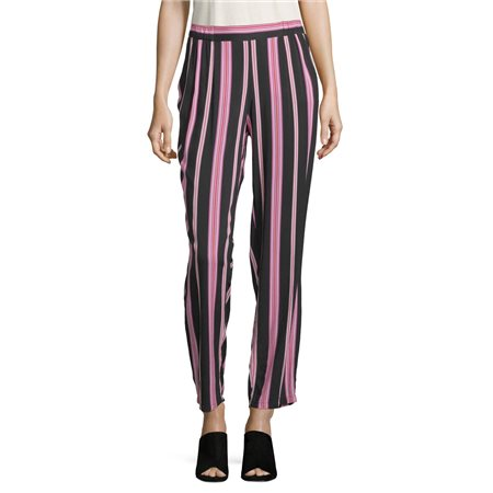 Betty Barclay Striped Trousers Black  - Click to view a larger image