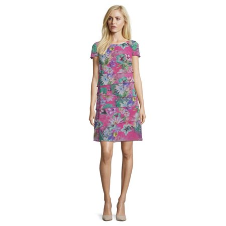 Betty Barclay Floral Print Dress Pink  - Click to view a larger image
