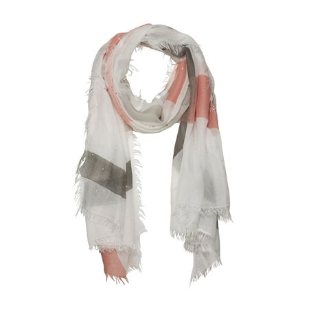 Monari Striped Scarf Grey  - Click to view a larger image