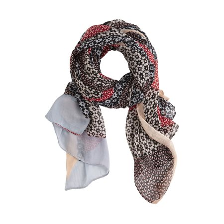 Sandwich All Over Print Scarf Pink  - Click to view a larger image