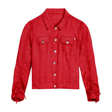 Sandwich Linen Jacket Red  - Click to view a larger image