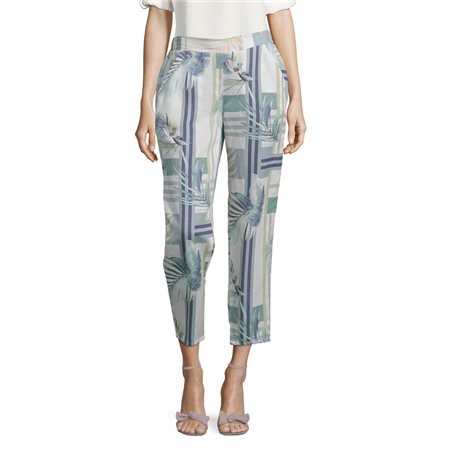 Betty & Co Casual Slip-On Trousers Green  - Click to view a larger image