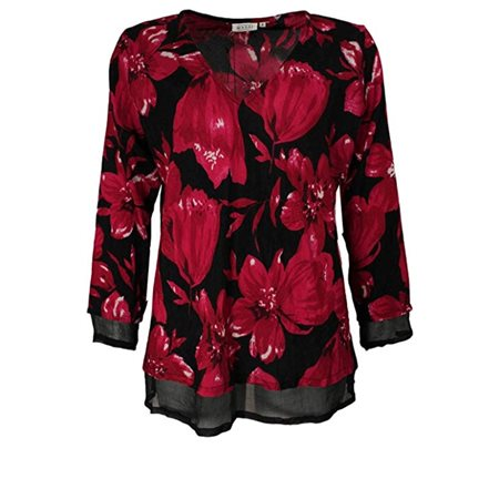 Masai Floral Top Red  - Click to view a larger image