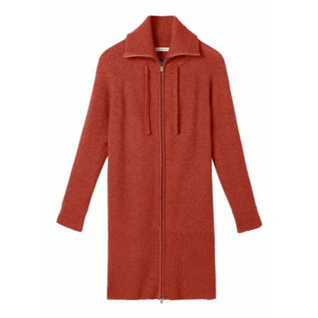 Sandwich Long Zipped Cardigan Crimson  - Click to view a larger image