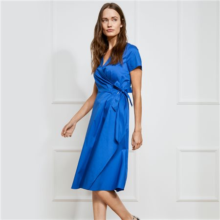 Gerry Weber Buckle Tie Dress Dark Blue  - Click to view a larger image
