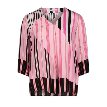 Betty Barclay Stripe Blouse Black  - Click to view a larger image