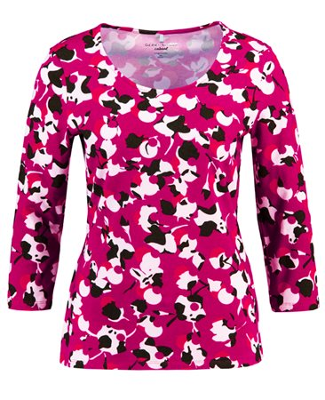 Gerry Weber Floral Print Top Pink  - Click to view a larger image