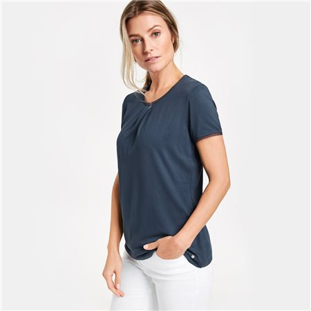 Gerry Weber Top With A Lace Trim Blue  - Click to view a larger image