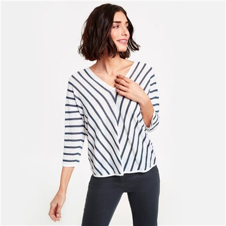 Gerry Weber Jumper With Diagonal Stripes Blue  - Click to view a larger image