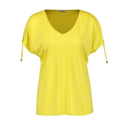 Gerry Weber Top With Gathered Ties Yellow  - Click to view a larger image