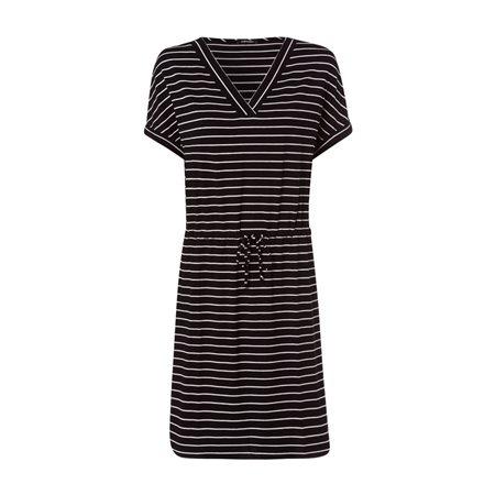 Olsen Stripe Jersey Dress Black  - Click to view a larger image