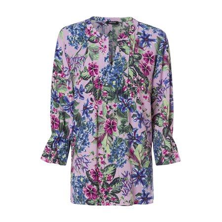 Olsen Floral Print Blouse Purple  - Click to view a larger image