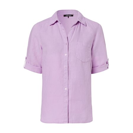 Olsen Linen Blouse Lilac  - Click to view a larger image