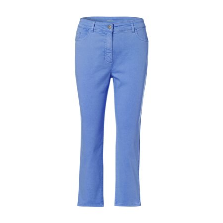 Olsen Cropped Summer Trousers Blue  - Click to view a larger image