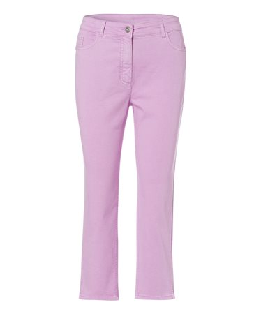 Olsen Cropped Summer Trousers Lilac  - Click to view a larger image