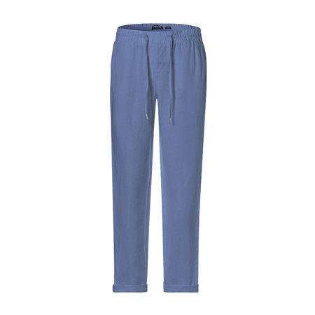 Olsen Lisa Linen Trousers Light Blue  - Click to view a larger image