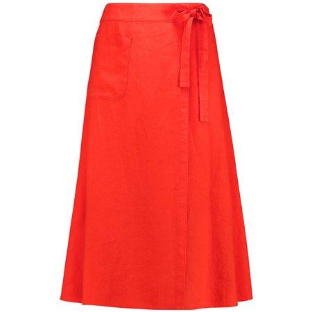 657e9bb321 Gerry Weber Linen Skirt Orange | Jonzara.com