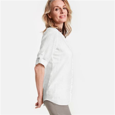 Gerry Weber Linen Shirt White  - Click to view a larger image