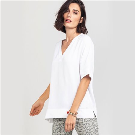 Olsen Shirt Blouse Top White  - Click to view a larger image