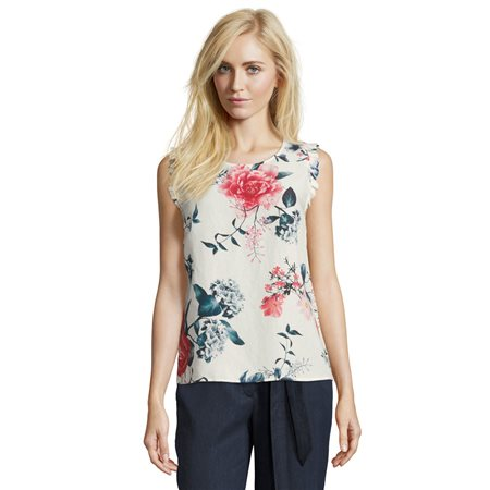 Betty & Co Floral Blouse Top Off White  - Click to view a larger image
