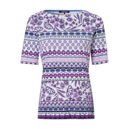 Olsen Geometric Design Top Purple  - Click to view a larger image