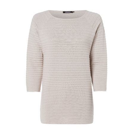Olsen Ribbed Jumper Almond  - Click to view a larger image