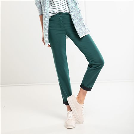 Olsen Mona Slim Jeans Green  - Click to view a larger image