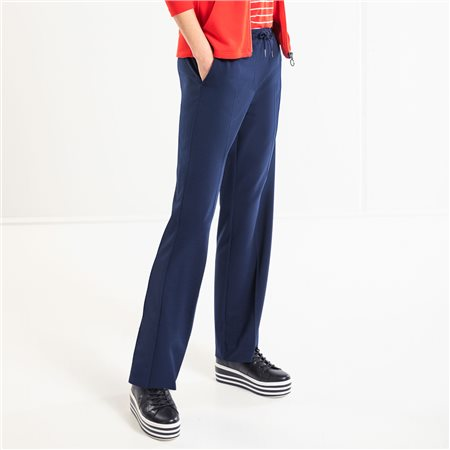 Olsen Loose Fit Anna Trousers Navy  - Click to view a larger image