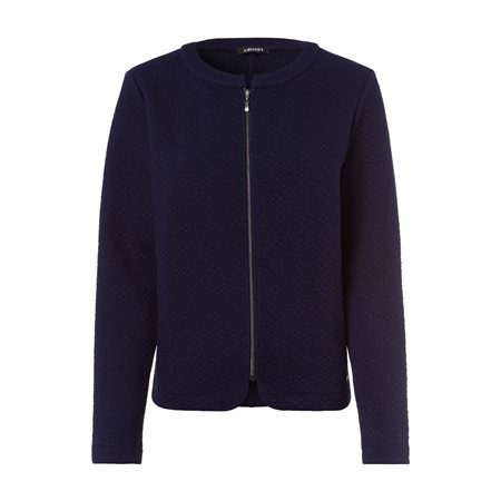 Olsen Jersey Jacket With Diamond Pattern Navy  - Click to view a larger image