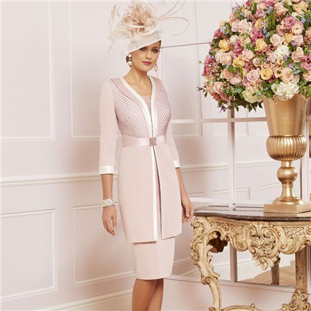Ronald Joyce 991478 Dress And Jacket Rose  - Click to view a larger image