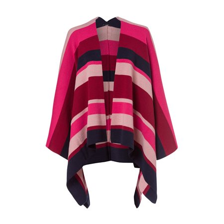 Olsen Colour Block Cape Red  - Click to view a larger image