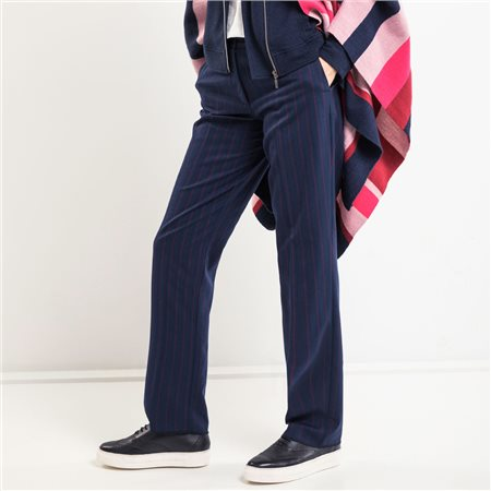 Olsen Pinstripe Trouser Navy  - Click to view a larger image