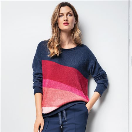 Olsen Bold Colour Jumper Navy  - Click to view a larger image