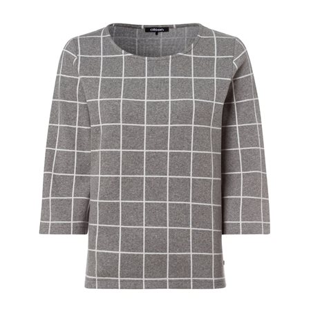 Olsen Large Check Jumper Grey  - Click to view a larger image