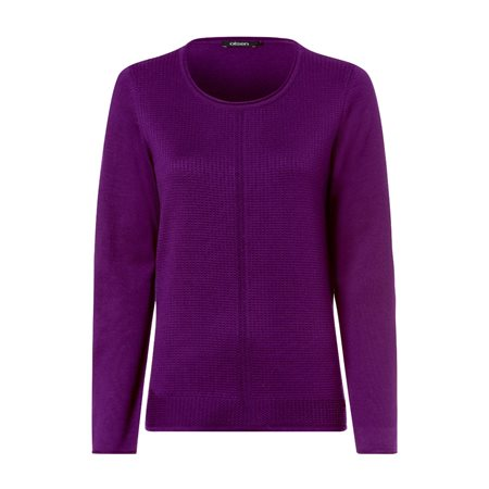 Olsen Roundneck Waffle Texture Jumper Violet  - Click to view a larger image