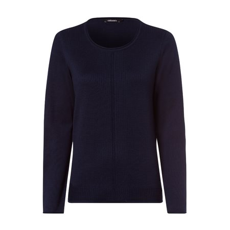 Olsen Roundneck Waffle Texture Jumper Navy  - Click to view a larger image