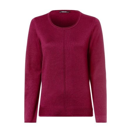 Olsen Roundneck Waffle Texture Jumper Red  - Click to view a larger image
