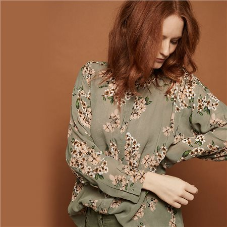Masai Ibily Floral Blouse Green  - Click to view a larger image