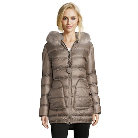 Betty Barclay Quilted Down Jacket Taupe  - Click to view a larger image