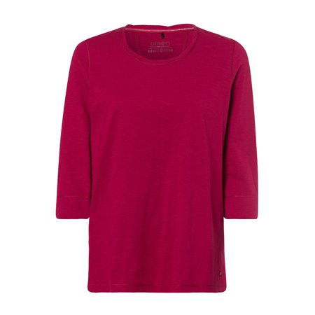 Olsen Long Sleeve Crew Neck Top Red  - Click to view a larger image