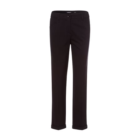 Olsen Smart Trouser With Turnup Hem Black  - Click to view a larger image