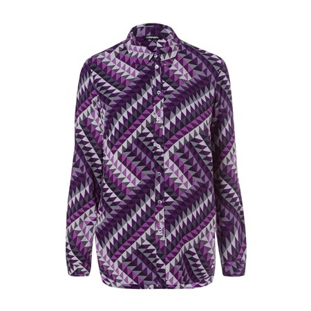 Olsen Geometric Print Blouse Purple  - Click to view a larger image