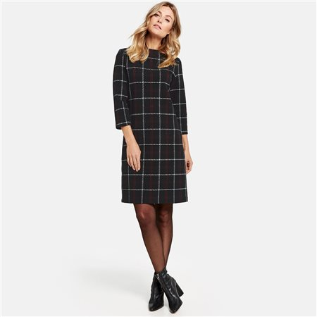 Gerry Weber Check Dress Black  - Click to view a larger image