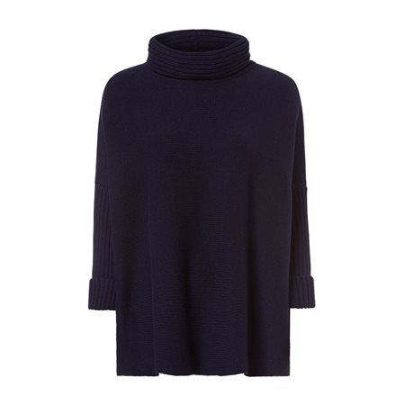 Olsen Oversize Turtle Neck Jumper Navy  - Click to view a larger image