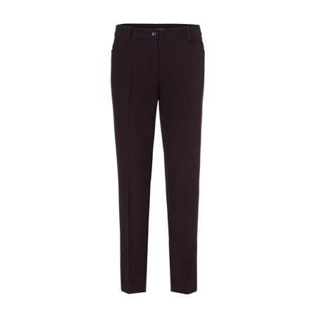 Olsen Smart Trouser With Small Dot Print Navy  - Click to view a larger image