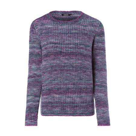 Olsen Round Neck Knitted Jumper Violet  - Click to view a larger image