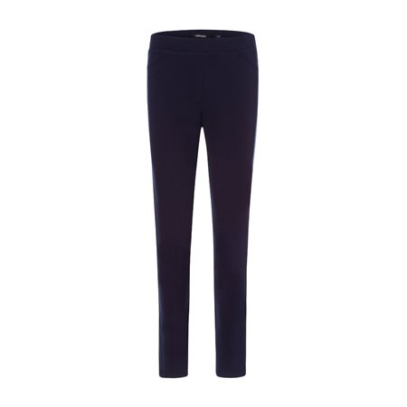 Olsen Pull On Trouser With Velvet Side Seam Navy  - Click to view a larger image