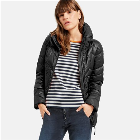 Taifun Shinny Quilted Jacket Black  - Click to view a larger image
