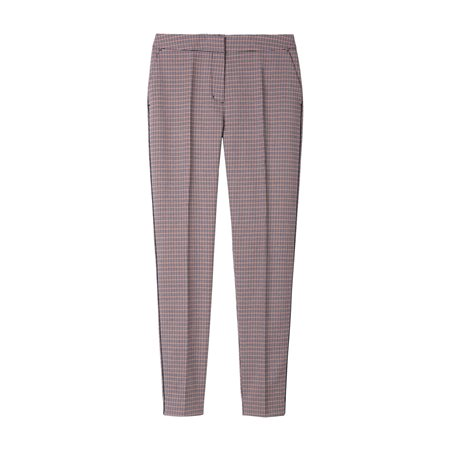 Sandwich Elba Houndstooth Check Trouser Red  - Click to view a larger image