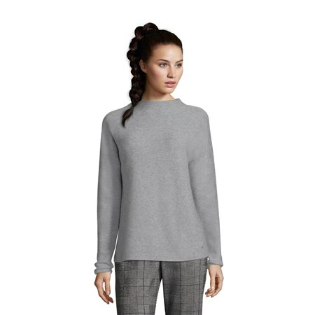 various styles meticulous dyeing processes detailed look High Neck Jumper Grey - 10